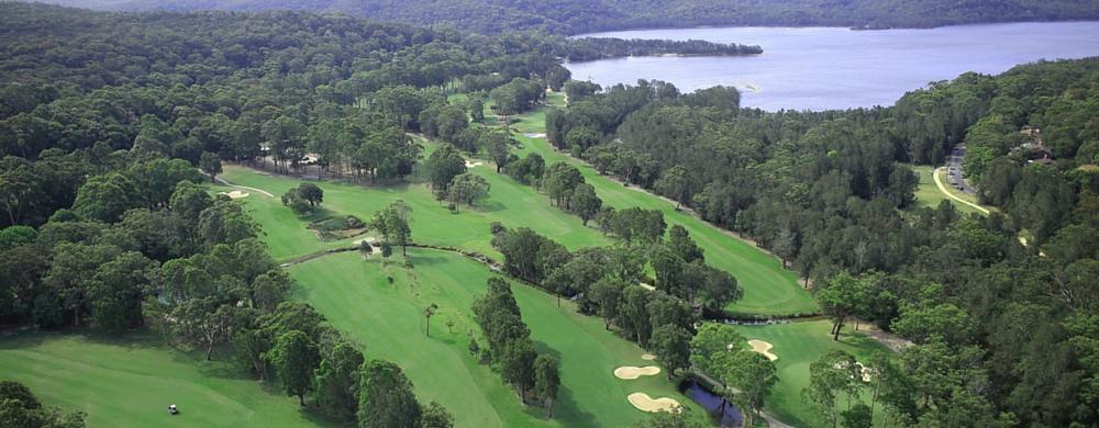 aerial shot of Cromer Golf Club