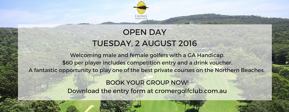 OPEN DAY AT CROMER GOLF CLUB