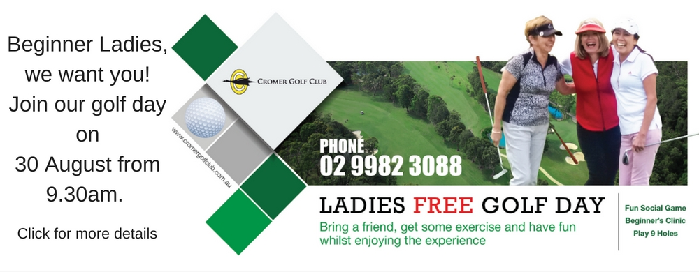 ladies golf day for beginners. Come and learn to play golf!