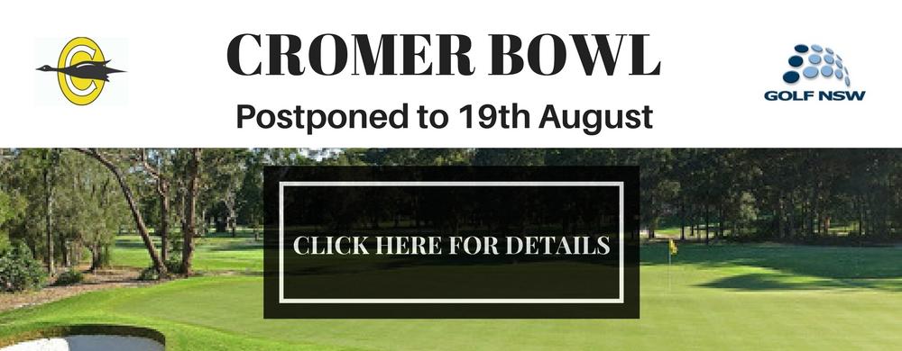 2017 CROMER BOWL Postponed Web Slider